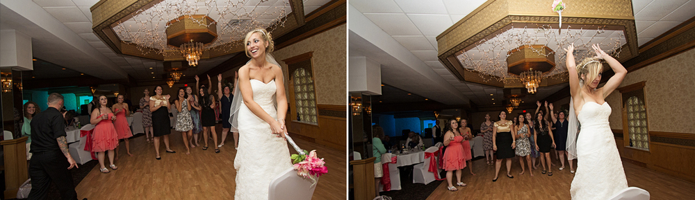 There was a lot more to this bouquet toss... but you'll have to ask the bride about that :)