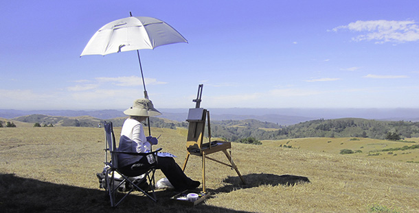 Painting at Djerassi...
