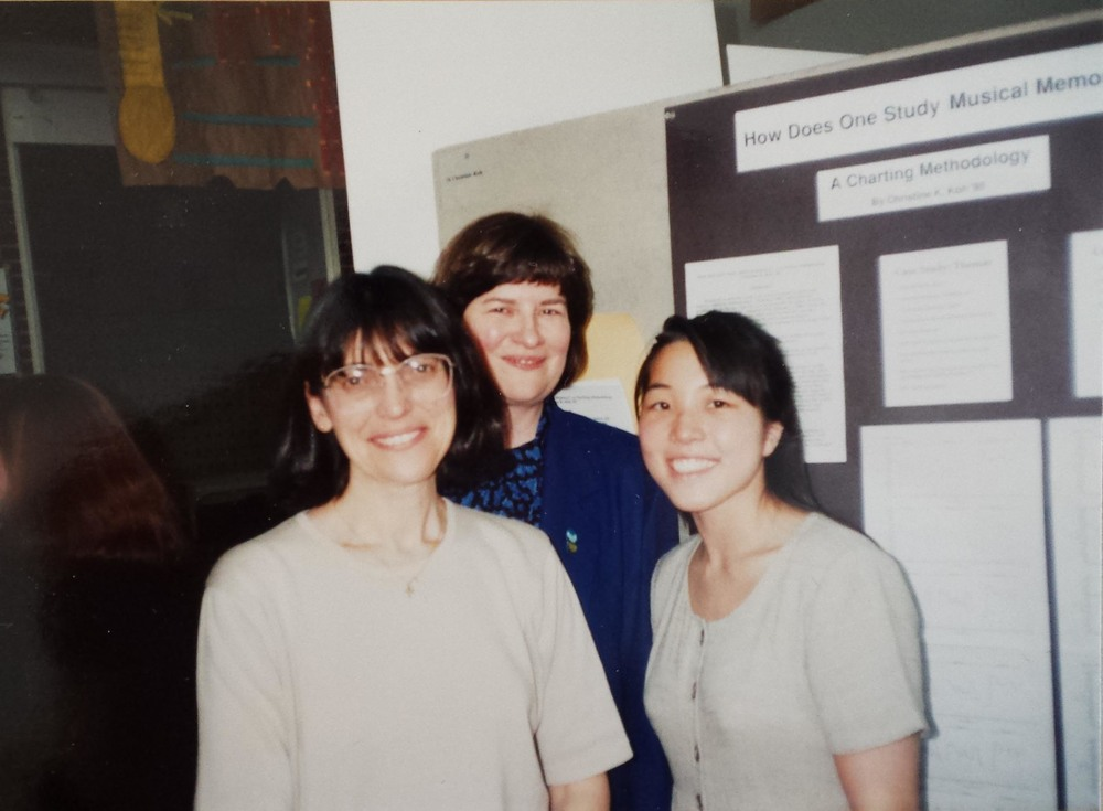 With professors Grace Baron and Ann Sears at the Wheaton College Academic Festival in 1995.