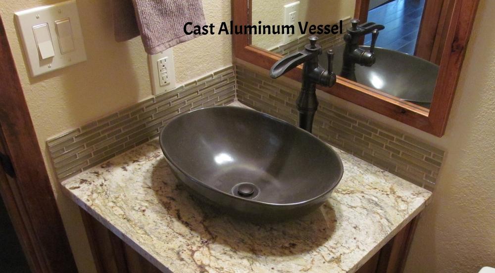 Cast Aluminum Vessel With Custom Patina
