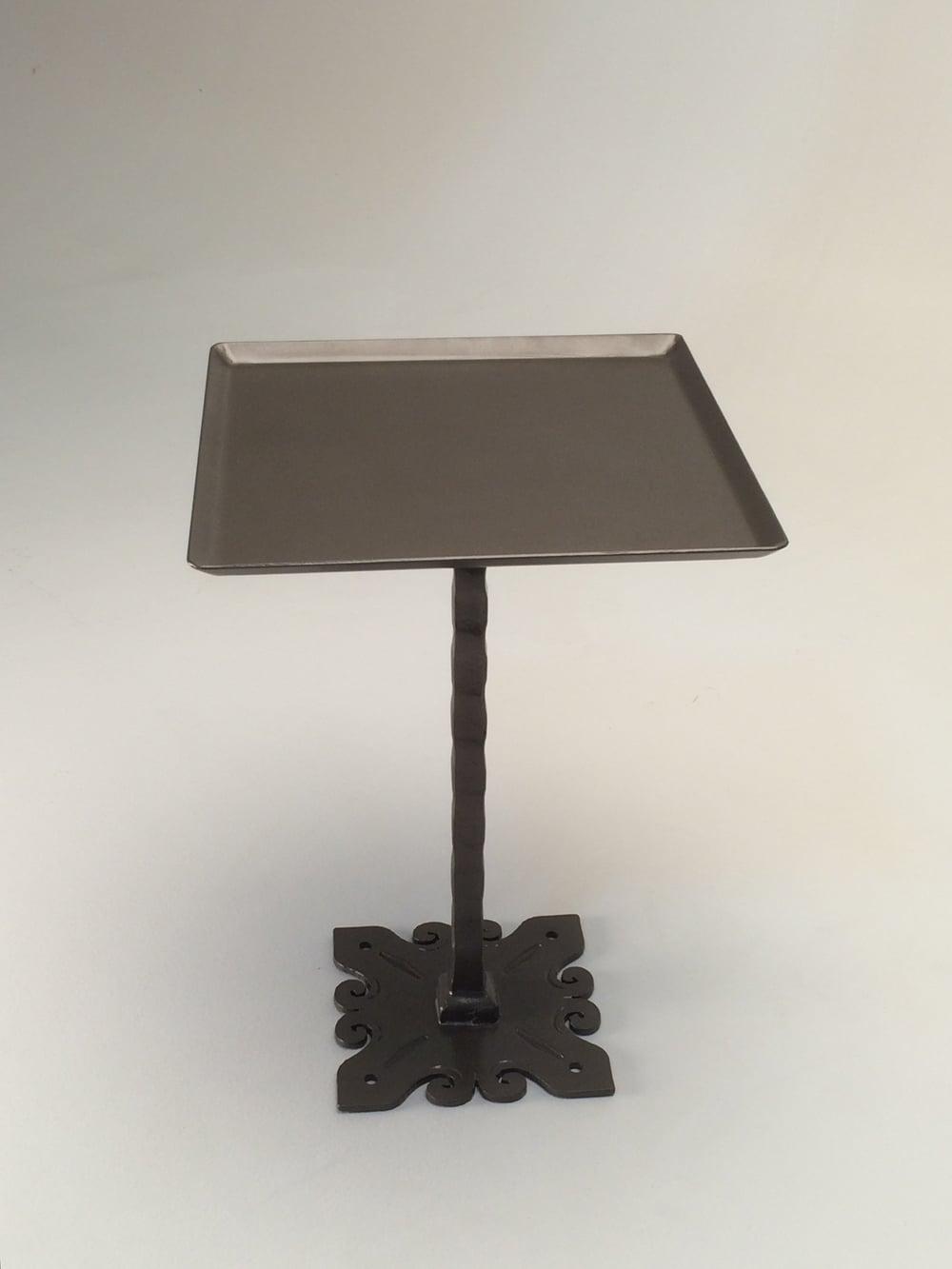 "Mild steel with statuary bronze finish  H 20""X D 14""X W 14"""