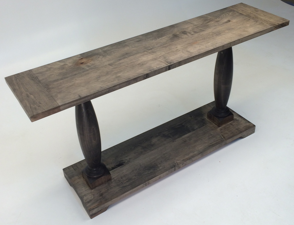 Maple Console Table w/ Rustic Finish