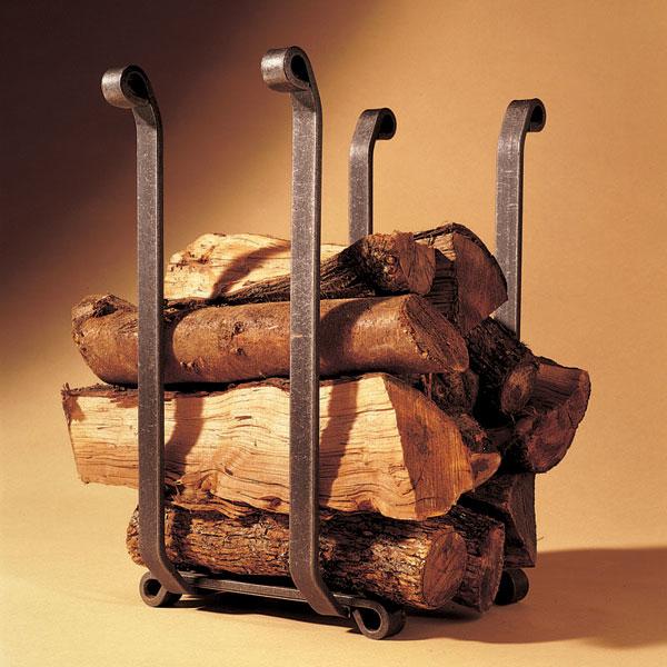 Log Holder With Antique Finish