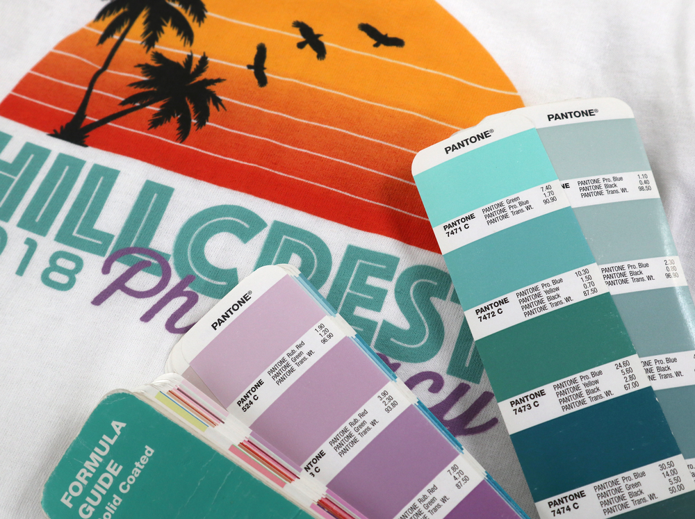 PANTONE PRECISION COLOR MATCHING - Getting the colors right makes a big difference - especially for teams and brands. We custom mix ink for every project using the Pantone color system.