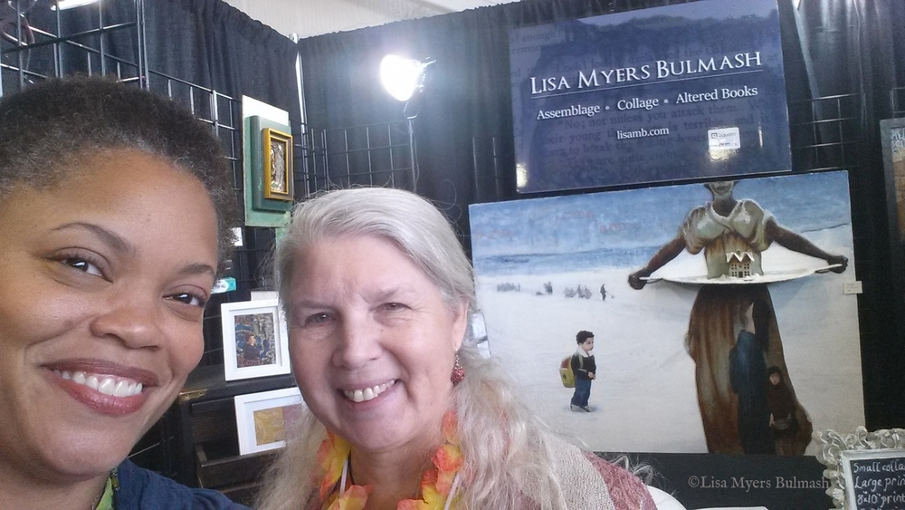 Collector Laura and I at my Best of the Northwest booth. Credit: Lisa Myers Bulmash