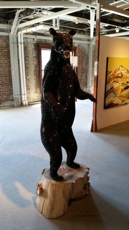 """Black Bear,"" Justin Beckman (Roq La Rue Gallery)"