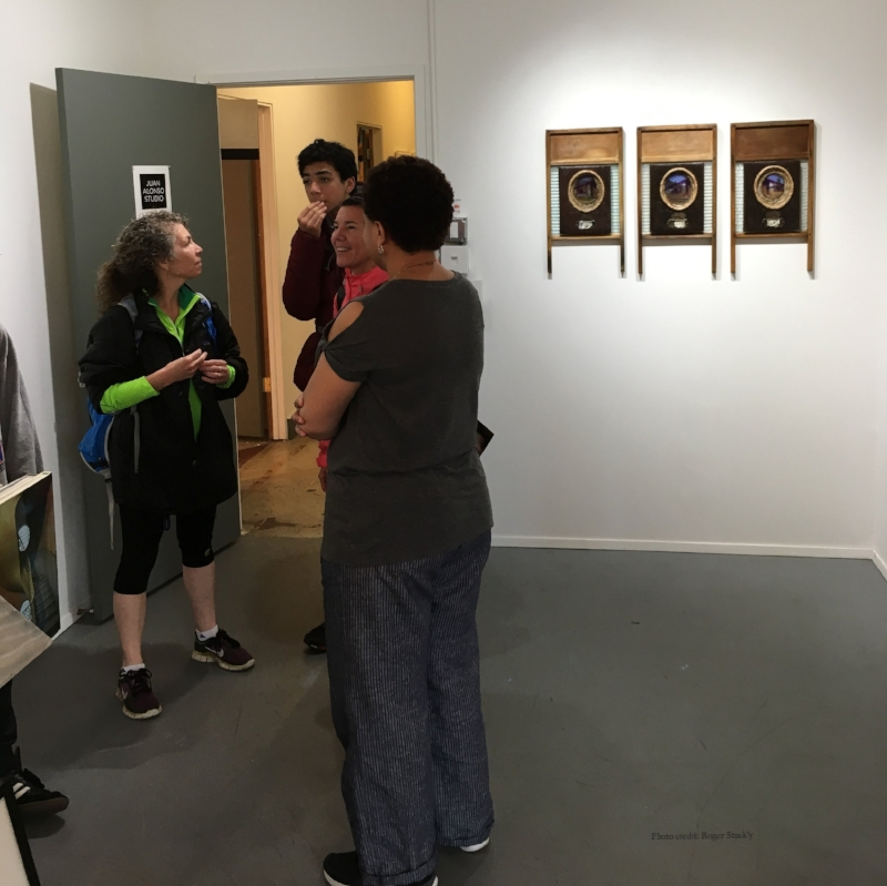 First Thursday Art Walk, Front Room Gallery @ Juan Alonso Studio. Photo credit: Roger Stuckly