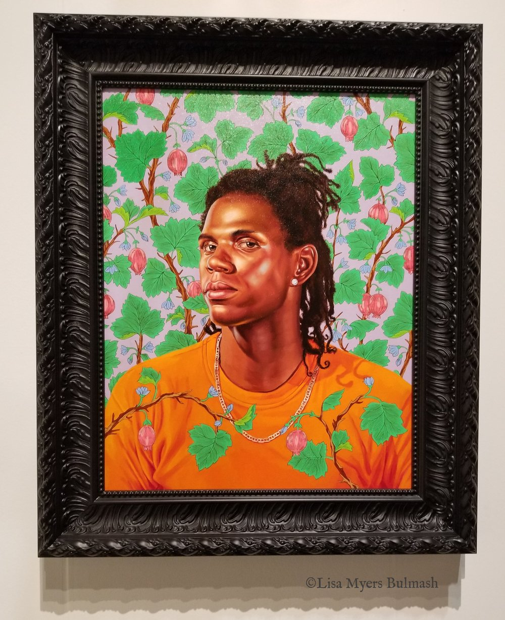 Work by Kehinde Wiley (Roberts & Tilton Gallery) at Seattle Art Fair