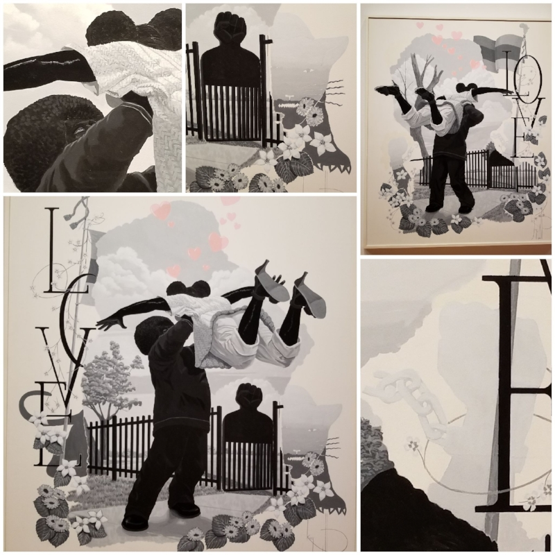 "Works from Kerry James Marshall's ""Vignette"" series"