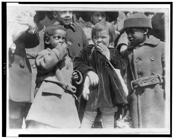 Children at a White House Easter egg roll, 1923. Credit: Library of Congress