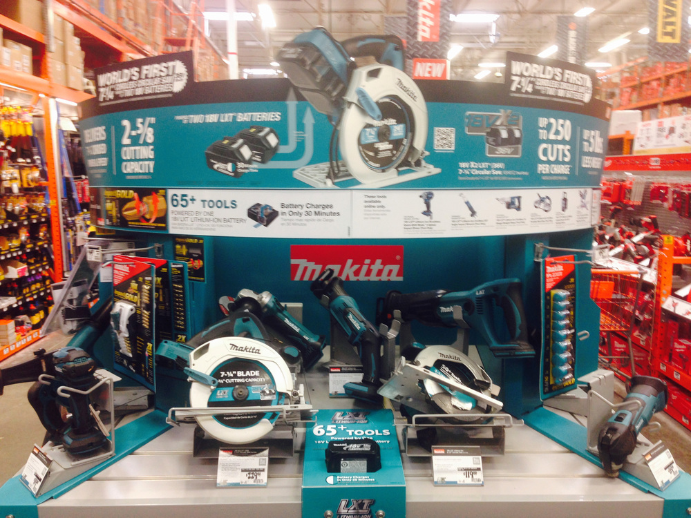 Makita Home Depot End Cap