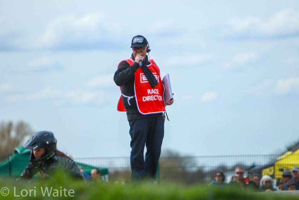 Race Director, Scott Dick, on the Mic