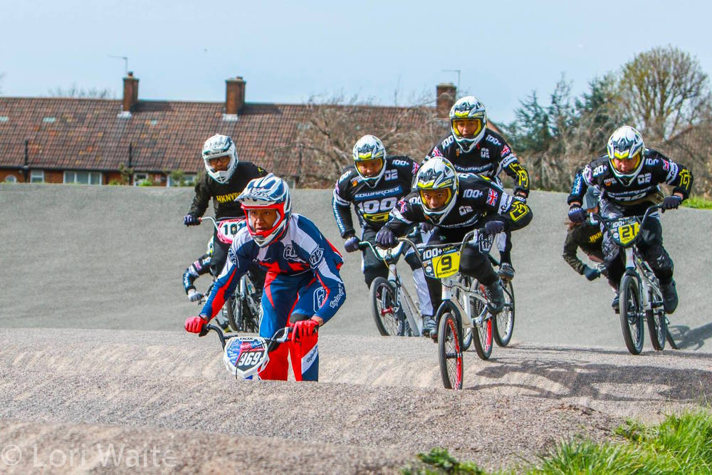 Kye Whyte, Team BMXTalk.com/Stay Strong, leading the pack in Pay Back!