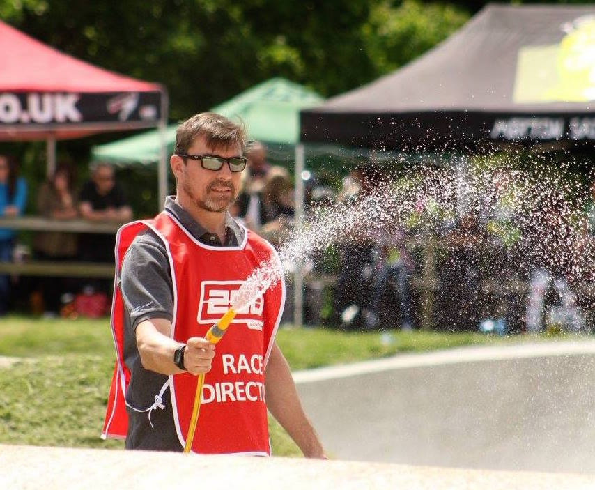 "NIC PREECE, Race Director and Chief ""Track Waterer"" - Image by Tony Twist"