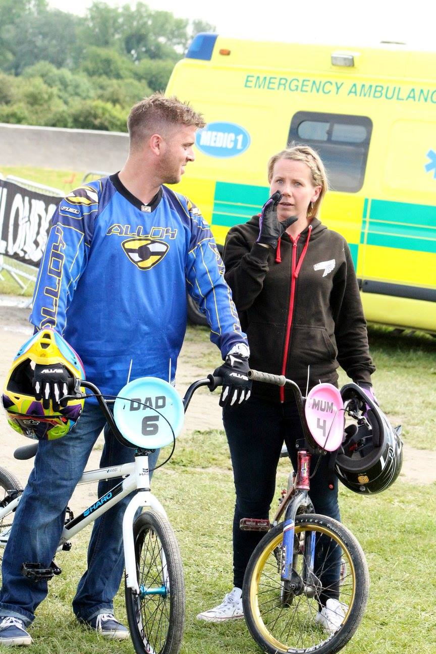 The eventual winners and the Elite of Mums' + Dads' racing, Mark Jessup + Angie Robinson