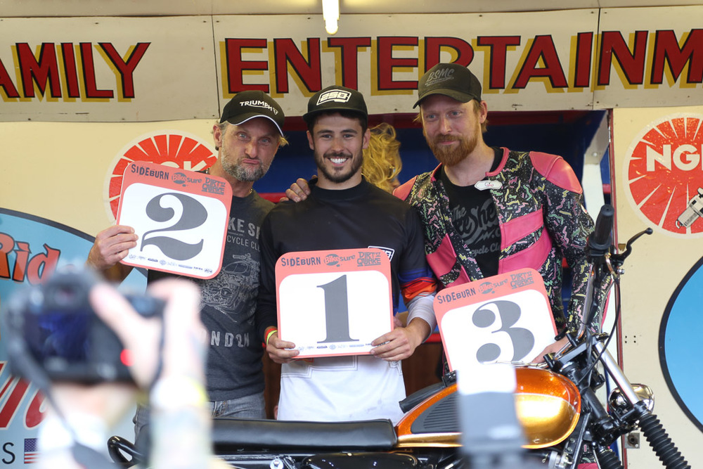 "Street Tracker Winner, Calum ""DeBolex"", with Carol Fogarty + Ross Sharp {pic by Mark Wilson}"