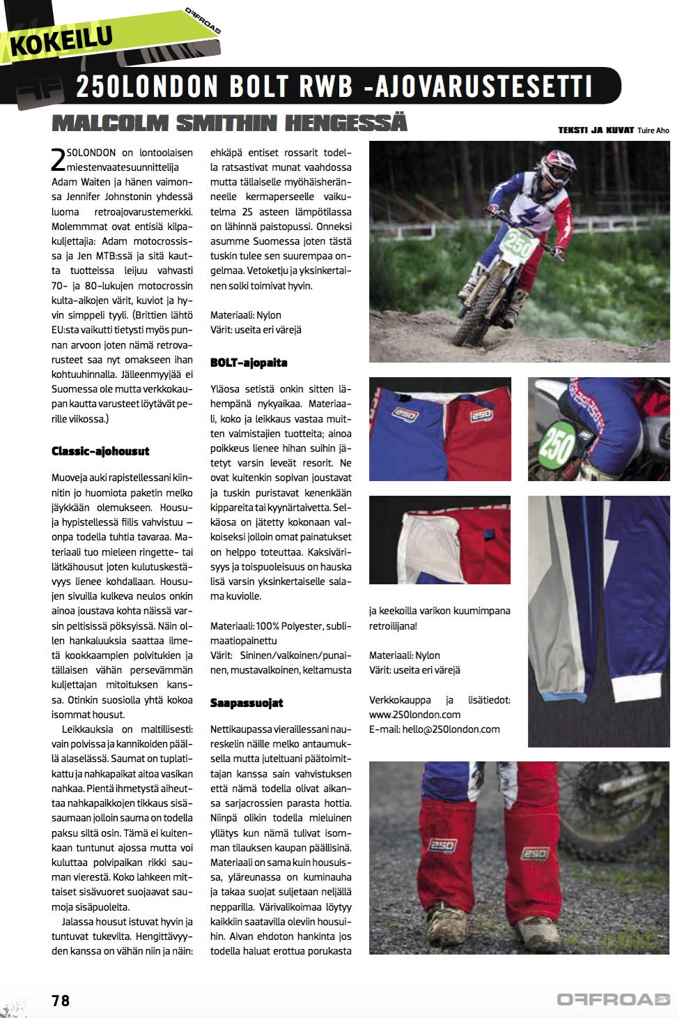 offroadpro magazine finland