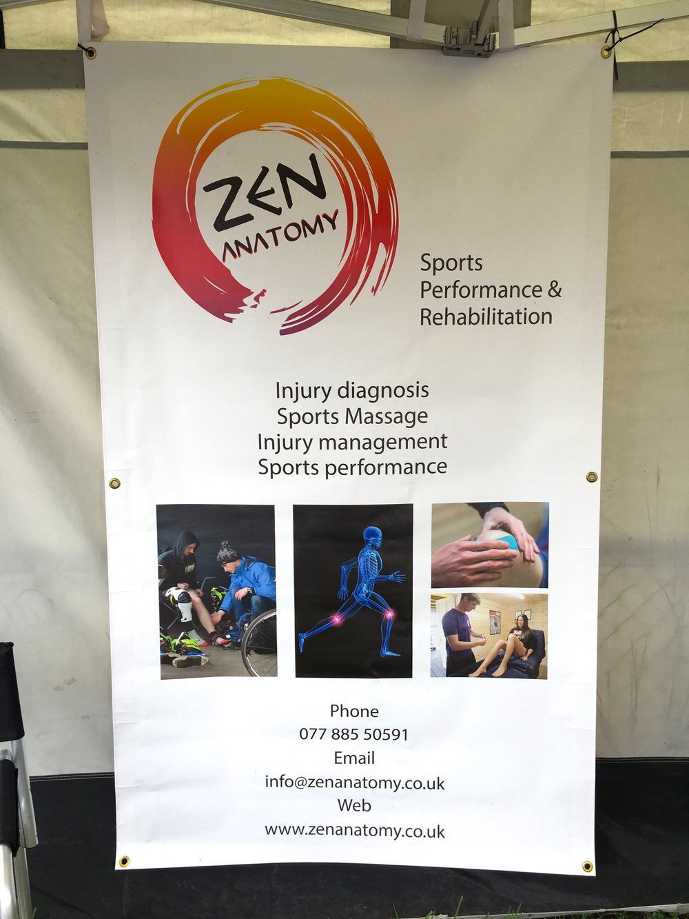 Luke from Zen Anatomy came along to offer consultations and treatments