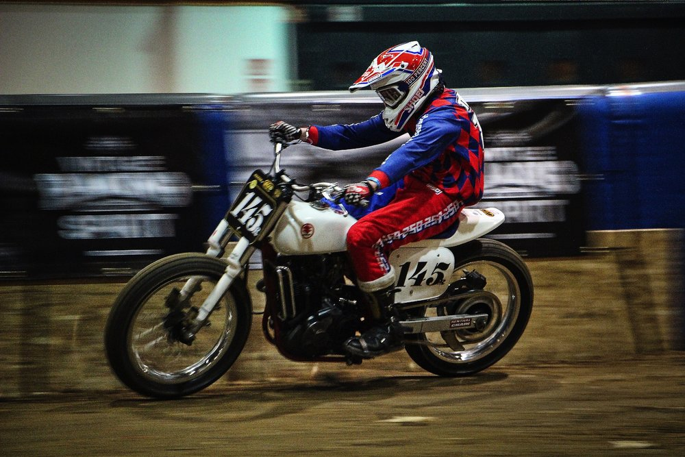 PIERRE-ALEXANDRE TREUST, riding at the Flat Track Inviational in Lyon.