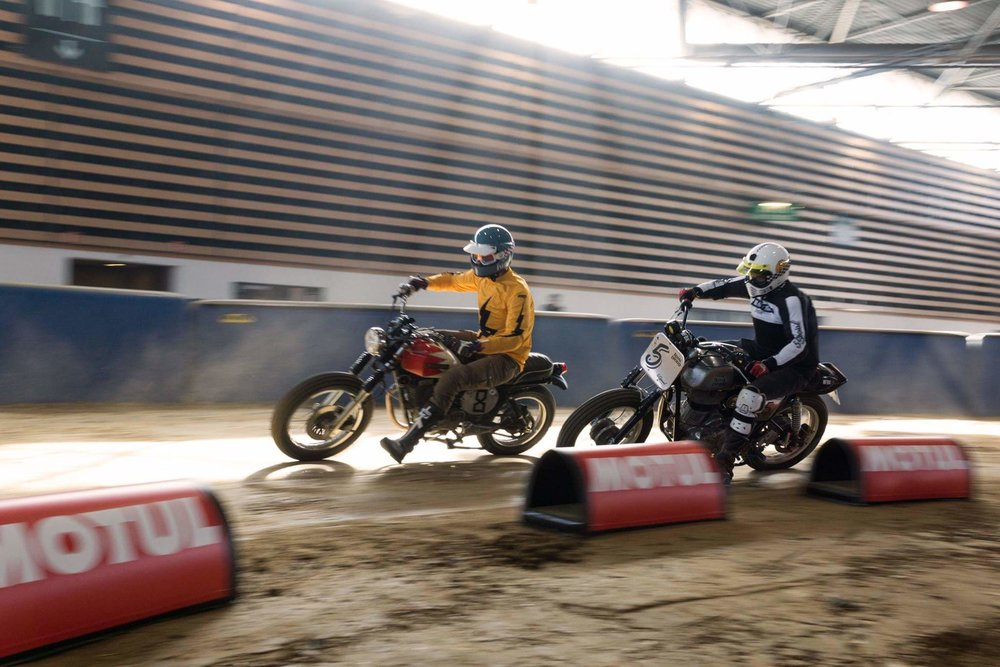 DANIEL SALVADORES, from La Urbana Bike, Riding at the Flat Track Invitational in Lyon.