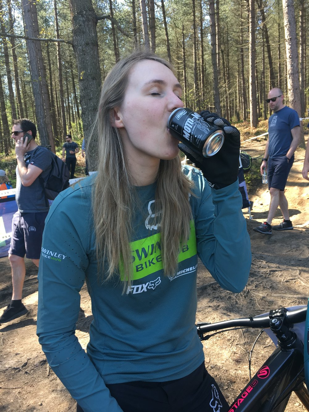 We fed Emma 250 MOTO-MIX Beer + Chocolate Digestives AFTER her races, honest!