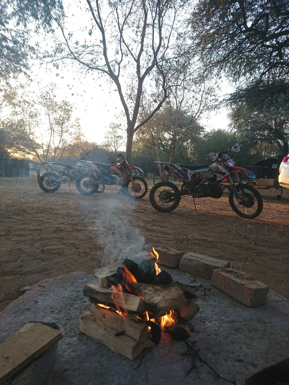 One of the best parts of a moto-trip: Beers and a campfire
