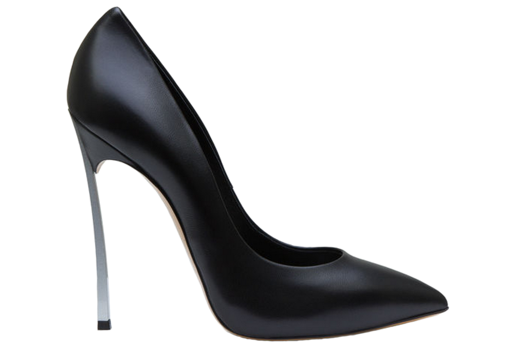 The Casadei blade pumps range in price from $640 to $1,400. Photo courtesy of Casadei.