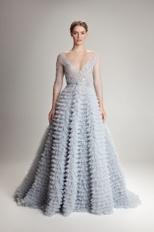 ThisHamda Al Fahimgown stole my heart when I first saw it. It reminded me of the perfect something blue for a blushing bride.