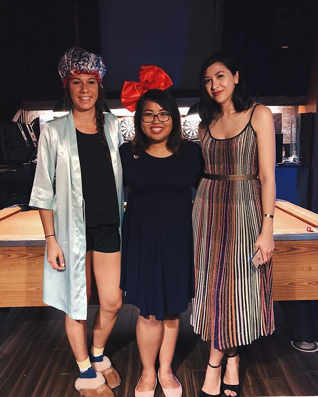 A granny, Kiki (do you ❤️ me?), and Rachel Chu a la @crazyrichasians this Halloween night 🎃 @constancewu #crazyrichasians #halloween