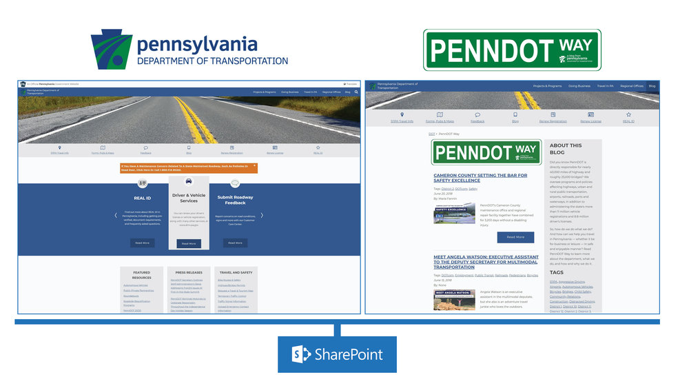 Managed the www.PennDOT.gov website which is created using the Microsoft SharePoint content management system. Responsibilities included: checking press release content and publishing on website, updating pages with relevant information, designing and publishing content for the PennDOT blog, and proof reading/approving other changes that additional content website editors make on the website.  PennDOT Website:   www.PennDOT.gov    PennDOT Blog:   www.PennDOT.gov/PennDOTWay