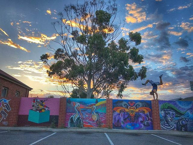 Inspired by the beautiful art and nature around us. Inspired to create art with positivity in movement. @pimovementninja. #pimovementninja #perthlife #handstandwhereistand #sunwarriortribe #lifeisgood