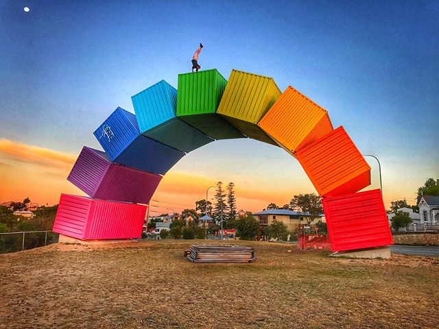 Somewhere over the rainbow 🌈  And down under🇦🇺 Blue birds fly And the dreams that u dreamed of Dreams really do come true🔮🙏 Powered by the @sunwarriortribe and being postive in-movement @pimovementninja. #sunwarriortribe #pimovementninja  #perthlife #ninjawarrior #ninjaflow  Thanks for the photo and making ninja dreams come true @ninja_dave88 🙏💪✌️️
