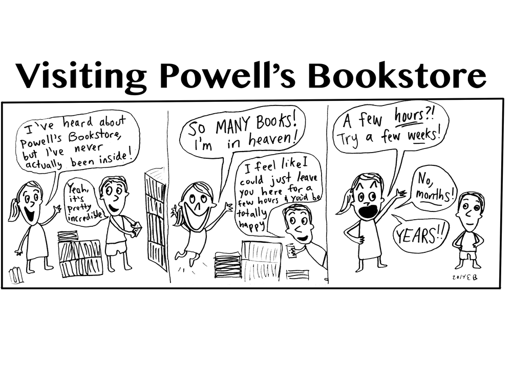 Visiting Powell's Bookstore