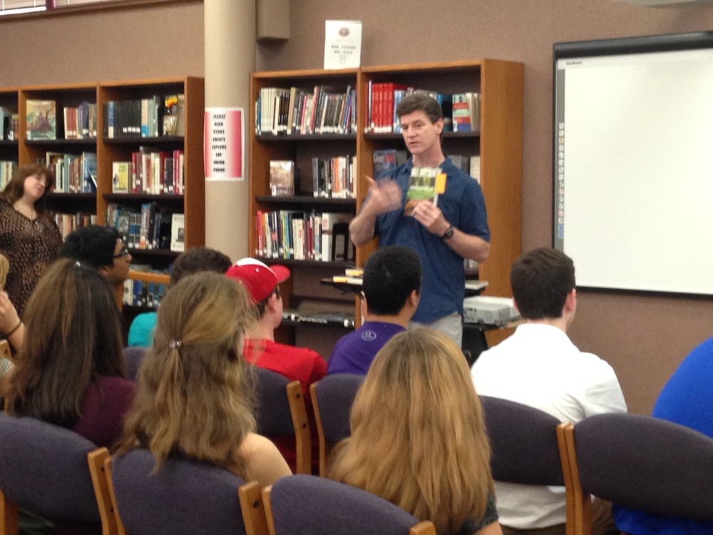 Myles Laffey spoke to kids about a book they may want to read for the summer.