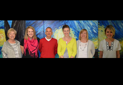 2014-15 Fourth Quarter Winners: Pat Morgan, Sally Belter, Mark McCabe, Jordan Stob, Karen Ford, Sara Pendergrass