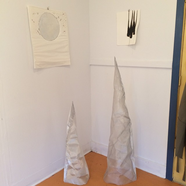 Beginnings of the net cones. Still nameless. #artinsf #studiodays