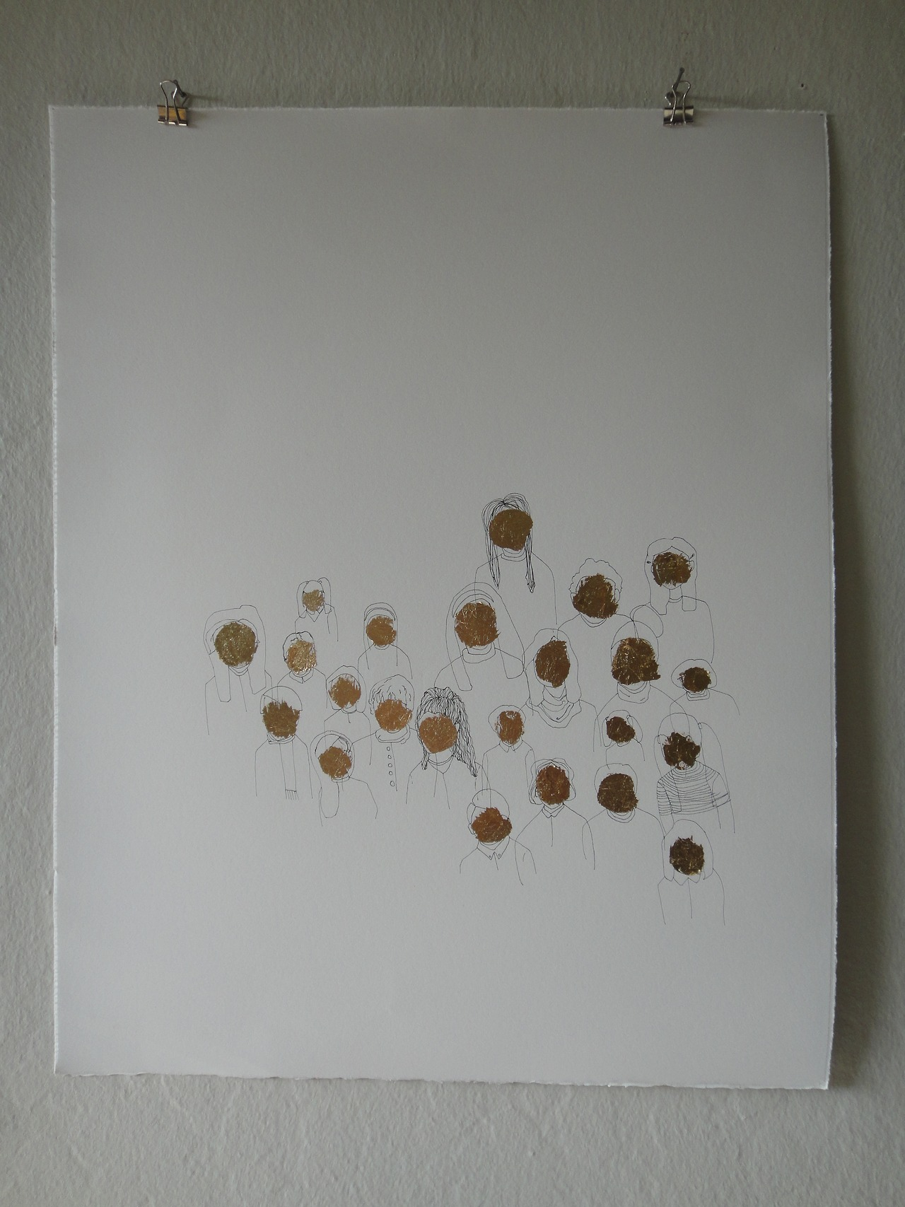 Untitled (gold faces), 2012