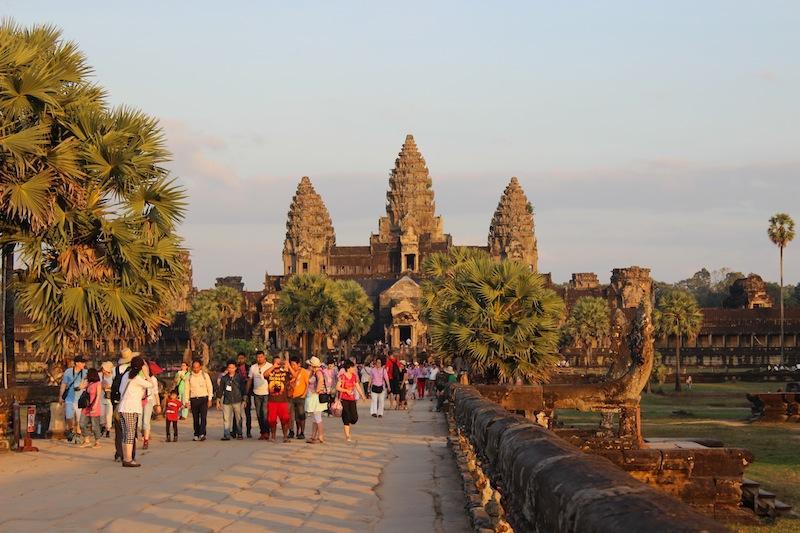 Last big trip of 2013 - Cambodia! Angkor Wat at sunset