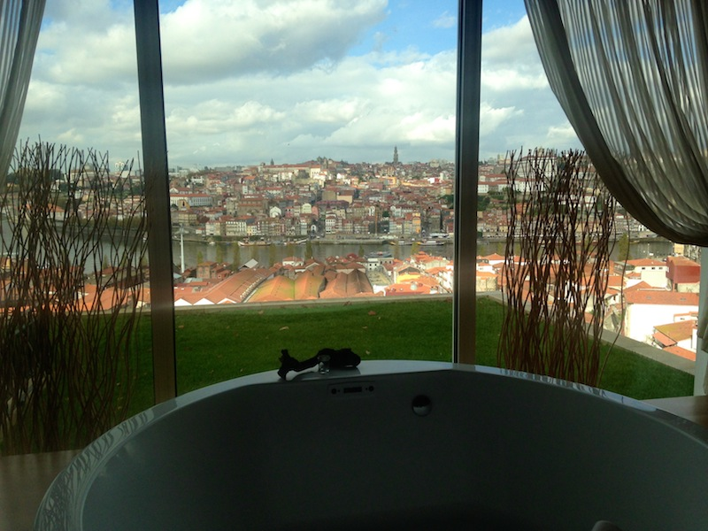 View from one of the spa rooms