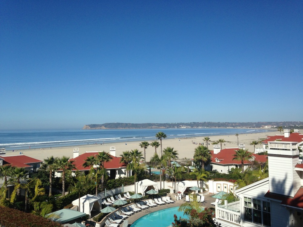 View from room at Hotel Del Coronado - San Diego