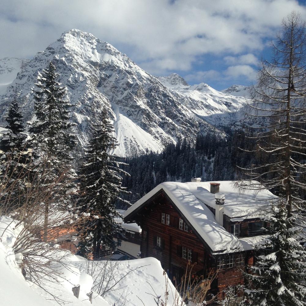 Skiing in Arosa, Switzerland