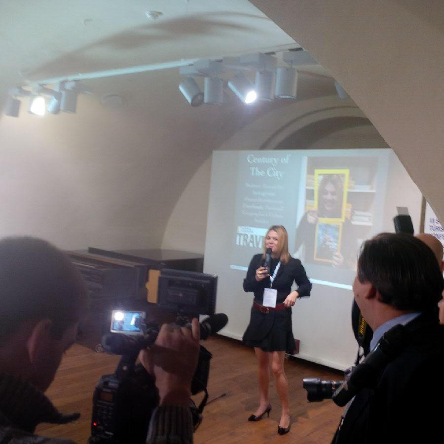 Speaking in Daugavpils, Latvia