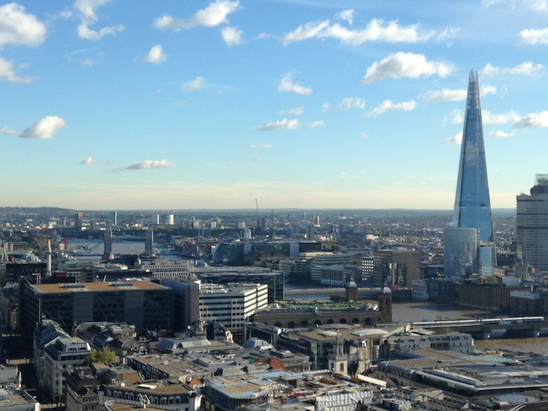 London from St. Paul's Cathedral - Tower Bridge meets the Shard