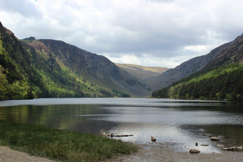 The reward after a long walk at Glendalough
