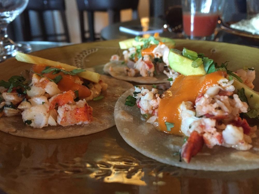 Lobster tacos at La Hacienda