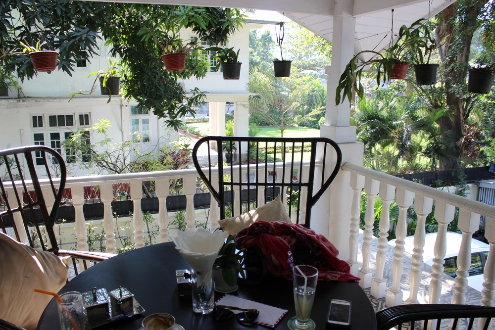 Second floor balcony at Acacia Tea Salon