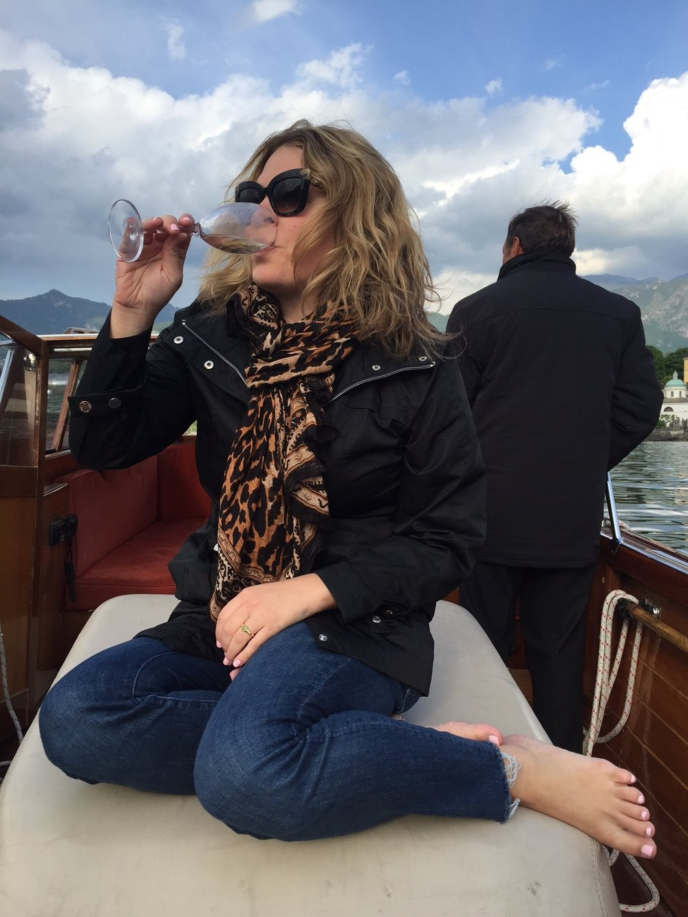 One of my all-time favorite trips in May 2016: staying at the Grand Hotel Tremezzo in Lake Como, Italy. Totally obnoxious champagne on boat shot. But what a day!