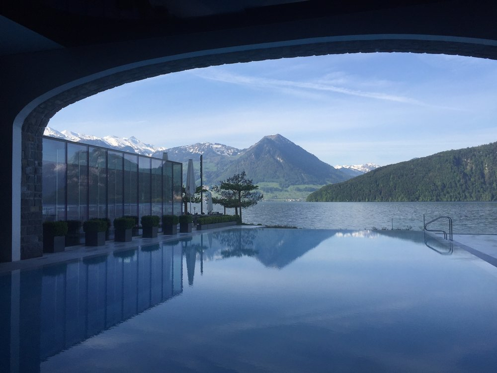 The absolutely stunning Park Hotel Vitznau outside of Lucerne, Switzerland