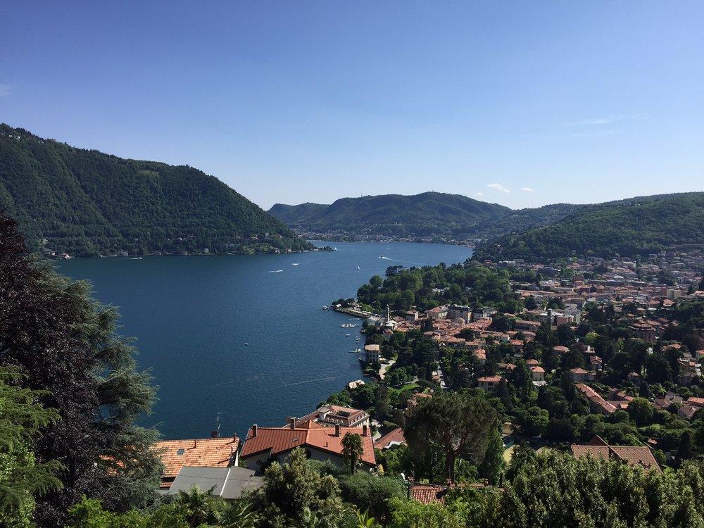 View from Il Gatto Nero, Cernobbio