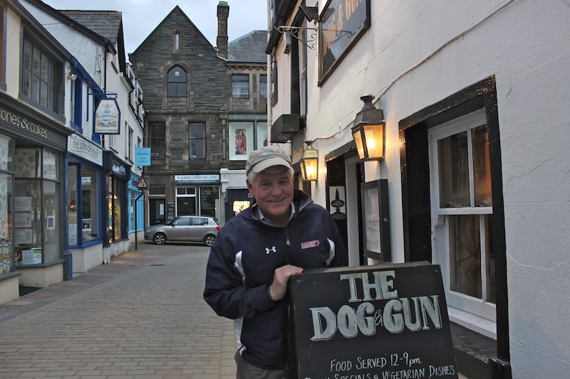 My dad at The Dog & Gun, our favorite pub.